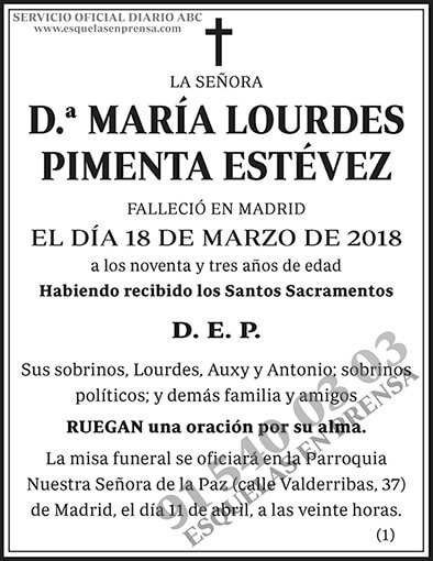 María Lourdes Pimenta Estévez